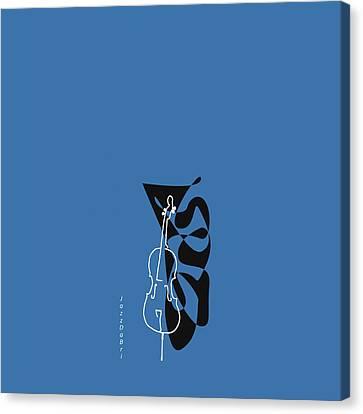 Cello In Blue Canvas Print by David Bridburg