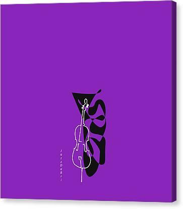 Cello In Purple Canvas Print