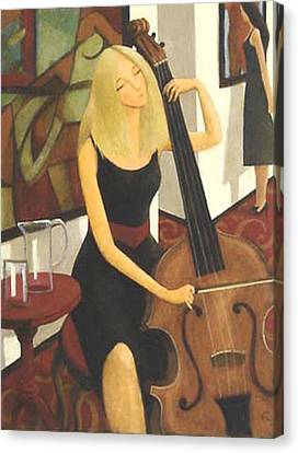 Cello Solo Canvas Print by Glenn Quist