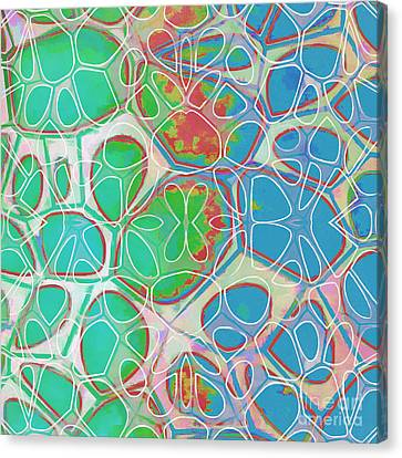 Geometric Artwork Canvas Print - Cells 11 - Abstract Painting  by Edward Fielding