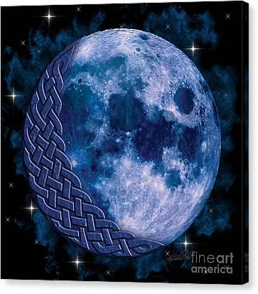 Celtic Blue Moon Canvas Print