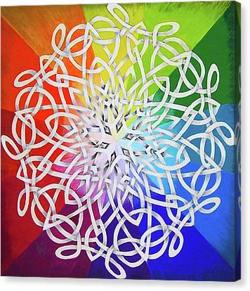Celtic Color Interlaced 1 Canvas Print