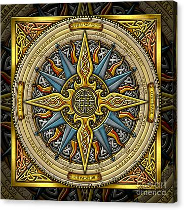 Celtic Compass Canvas Print