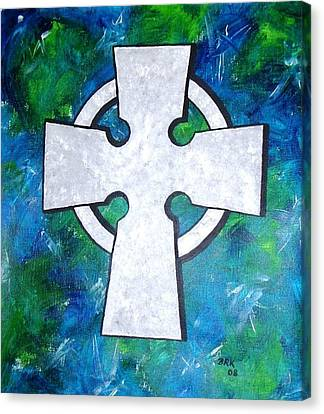 Celtic Cross Canvas Print by Bo Klinge