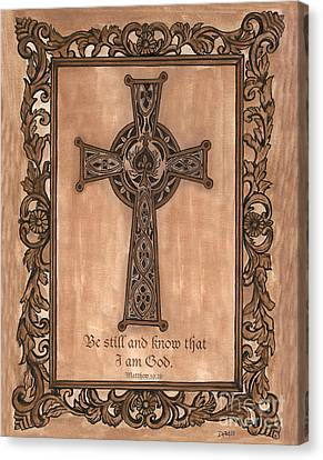 Celtic Cross Canvas Print by Debbie DeWitt