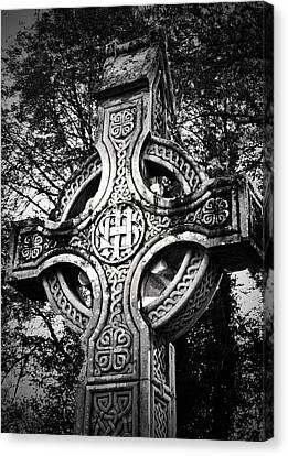 Celtic Cross Detail Killarney Ireland Canvas Print by Teresa Mucha