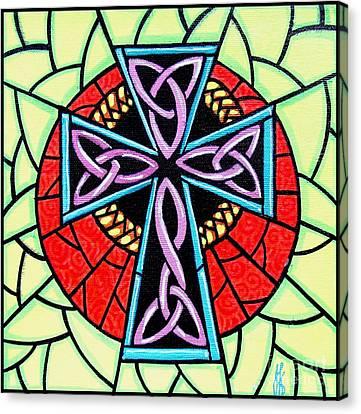 Celtic Cross Canvas Print by Jim Harris