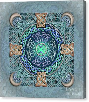 Celtic Eye Of The World Canvas Print by Kristen Fox