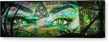 Celtic Eyes Canvas Print by Absinthe Art By Michelle LeAnn Scott