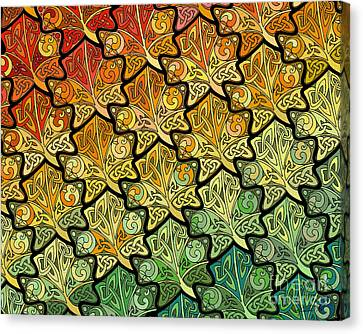 Celtic Leaf Transformation Canvas Print