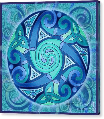 Celtic Planet Canvas Print by Kristen Fox