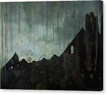 Celtic Ruins Canvas Print by Ivana Westin
