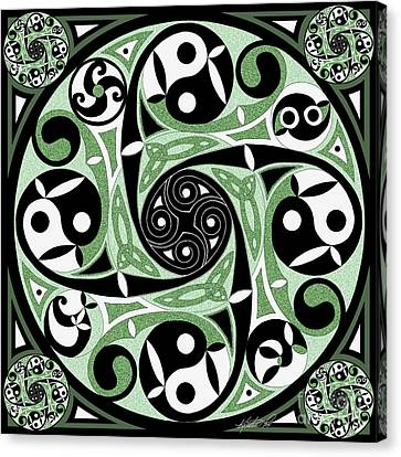 Celtic Spiral Stepping Stone Canvas Print