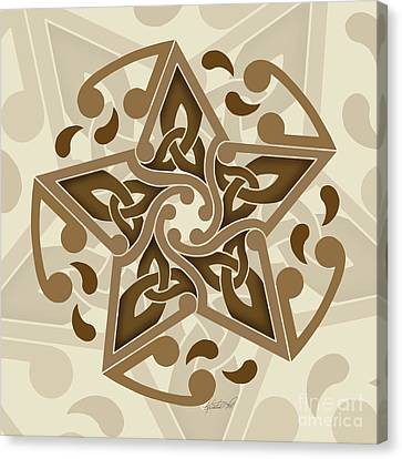 Canvas Print featuring the mixed media Celtic Star by Kristen Fox