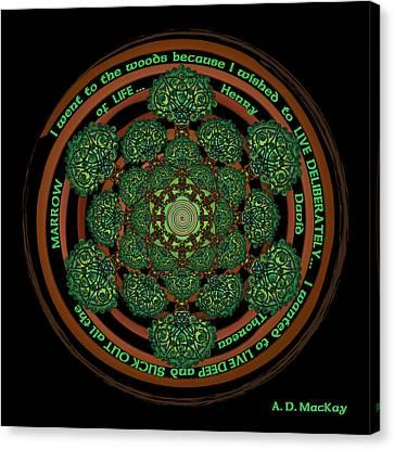 Celtic Tree Of Life Mandala Canvas Print by Celtic Artist Angela Dawn MacKay