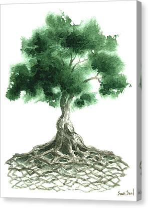 Celtic Tree Of Life Canvas Print by Sean Seal