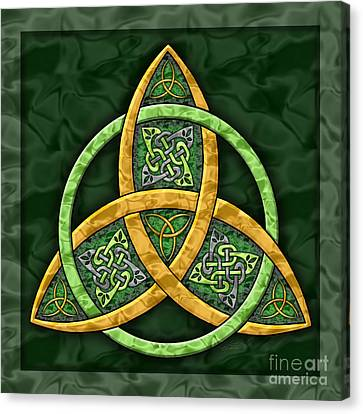 Celtic Trinity Knot Canvas Print by Kristen Fox