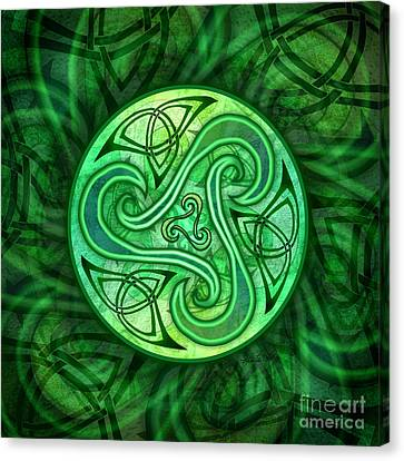 Celtic Triskele Canvas Print by Kristen Fox