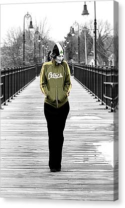 Celtics Girl Canvas Print by Greg Fortier