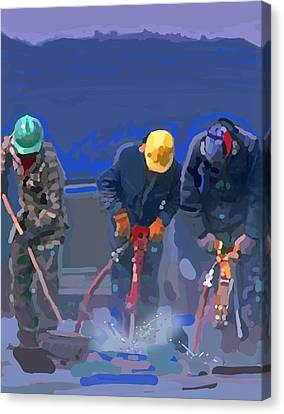 Cement Breakers Canvas Print by Brad Burns