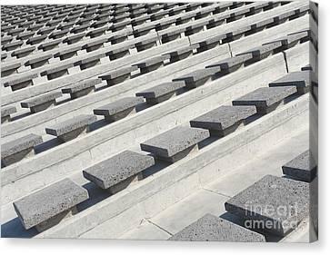 Cement Seats Canvas Print by Gaspar Avila