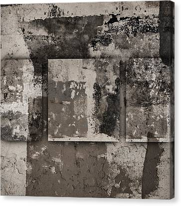Cement Squares Number Three Canvas Print by Carol Leigh