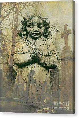 Cemetary Angel Canvas Print by Emily Kelley