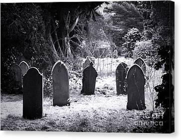 Cemetery And Snow Canvas Print by Jane Rix