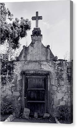 Cemetery At Mission Santa Barbara I Canvas Print by Steven Ainsworth