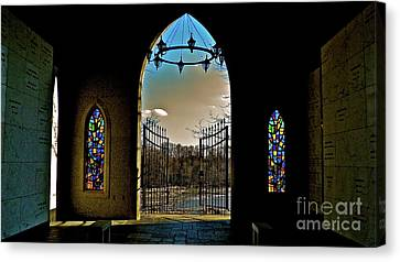 Cemetery Chapel 2 Canvas Print by E Robert Dee