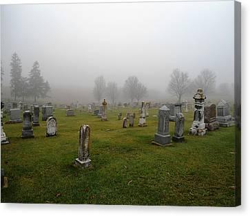 Cemetery Fog Canvas Print