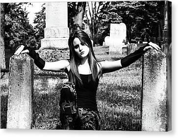 Cemetery Girl Canvas Print