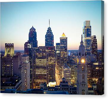 Center City Philadelphia Canvas Print by Aaron Couture