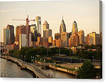 Canvas Print featuring the photograph Center City Philadelphia by Ed Sweeney