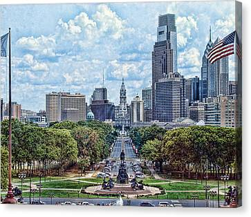 Center City Philly Canvas Print by Kevin  Sherf