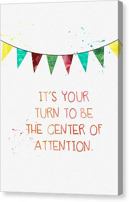 Center Of Attention- Card Canvas Print