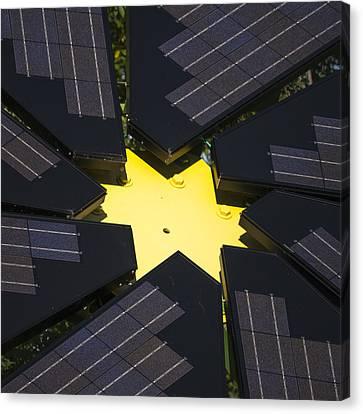 Center Of Solar Panel Array Canvas Print by Steven Ralser
