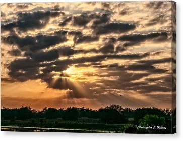Canvas Print featuring the photograph Central Florida Sunrise by Christopher Holmes