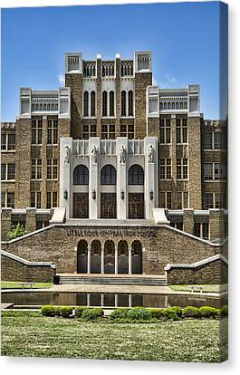 Historic Site Canvas Print - Central High School - Little Rock by Stephen Stookey
