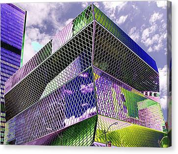 Central Library  Seattle Canvas Print by Tim Allen