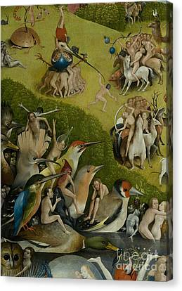 Central Panel From The Garden Of Earthly Delights Canvas Print by Hieronymus Bosch