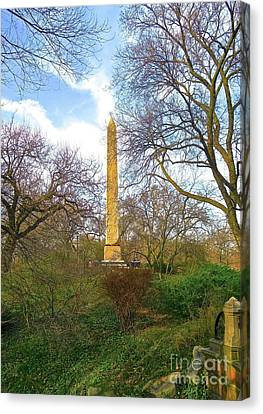 Central Park 3 - Obelisk 4a Canvas Print by Ken Lerner