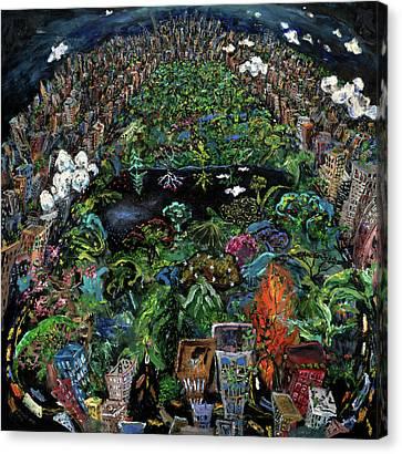 Central Park Canvas Print by Antonio Ortiz