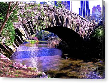 Central Park Bow Bridge 33 Canvas Print by Ken Lerner