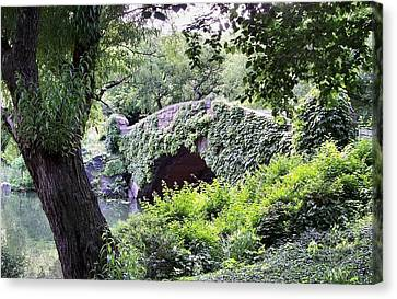 Central Park Bridge Canvas Print by Bruce Lennon