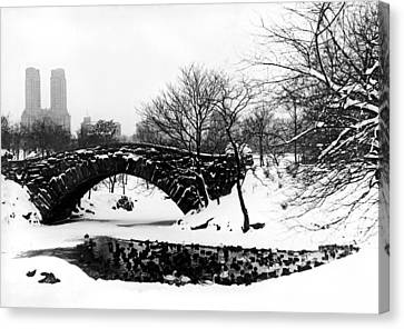 Central Park Duck Pond Canvas Print by American School