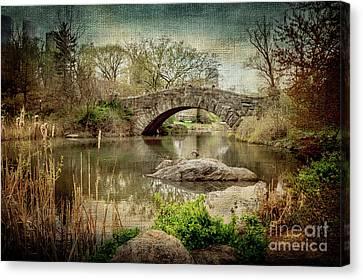 Central Park Gapstow Bridge Canvas Print by Joan McCool