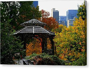Central Park Gazebo Canvas Print by Christopher Kirby