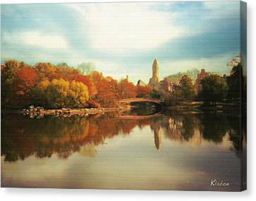 Central Park Lake Canvas Print by David Klaboe