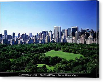 Central Park Manhattan New York City Canvas Print